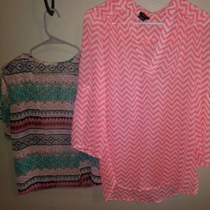 Rue21 Women's 3/4 Sleeve Shirt and Cover